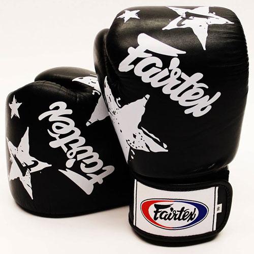 Gants de boxe Fairtex Noir Stars