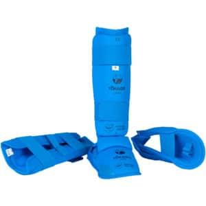 Protège-tibias et pieds amovible Tokaido bleu
