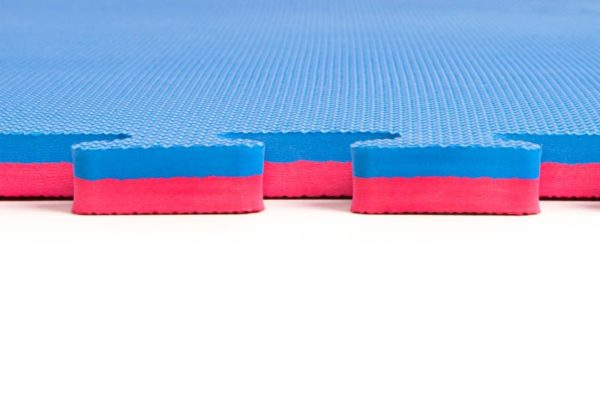 Tapis puzzle 1mx1mx2cm Bleu / Rouge Martial