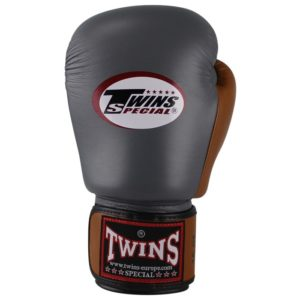 Gants de Boxe Twins Gris / Marron