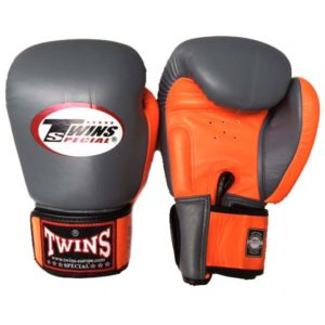 Gants de Boxe Twins Gris / Orange