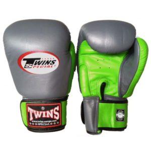 Gants de Boxe Twins Gris / Vert