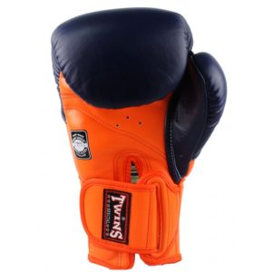 Gants de boxe Twins rush bleu/orange