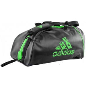 adidas green black holdall