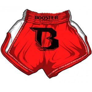 Short Boxe Thai Booster TBT PRO Rouge / Blanc