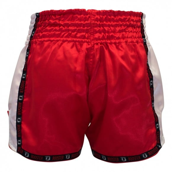 Short Boxe Thai Booster TBT PRO Rouge / Blanc