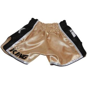 King Pro Boxing Muay Thai Shorts KPB/BT-9 Gold/Black
