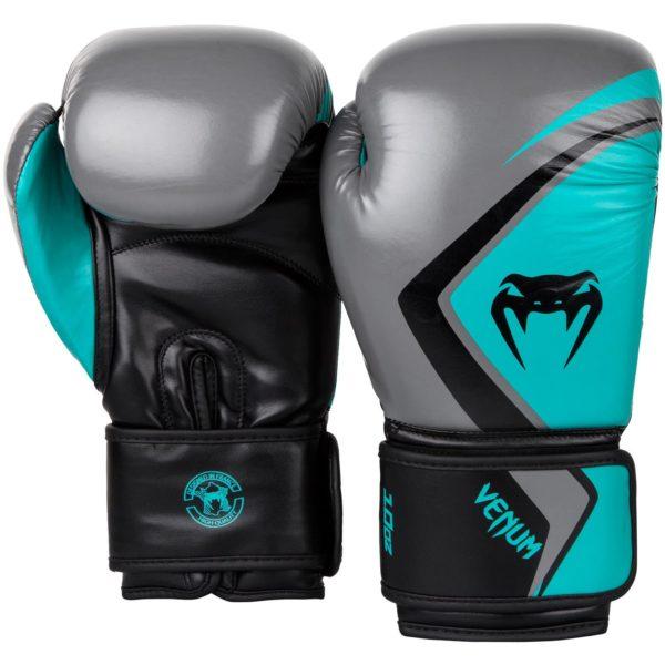 Gants de boxe Venum Contender 2.0 - Noir/Gris/Turquoise