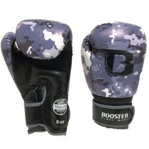 Gants de boxe BOOSTER CAMO GRIS