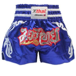 Xthai Short de Boxe Thai Tribal Bleu
