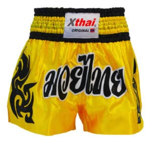 Xthai Short de Boxe Thai Tribal Jaune