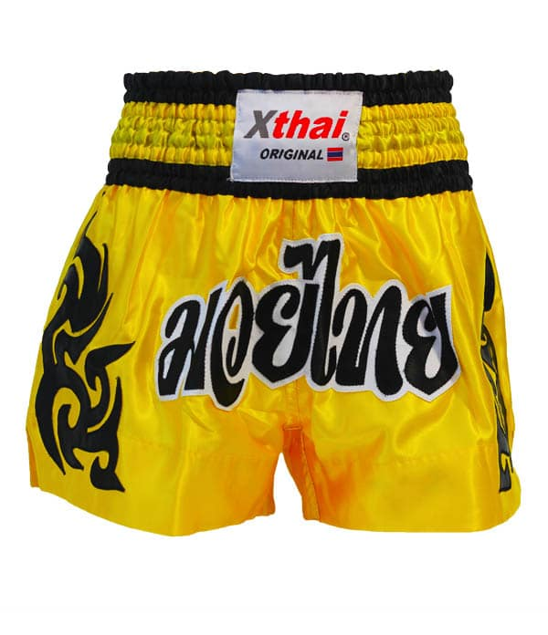 Xthai Short de Boxe Thai Tribal Jaune