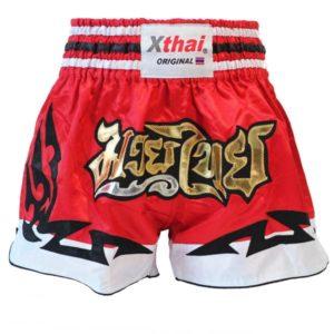 Xthai Short de Boxe Thai Tribal Rouge