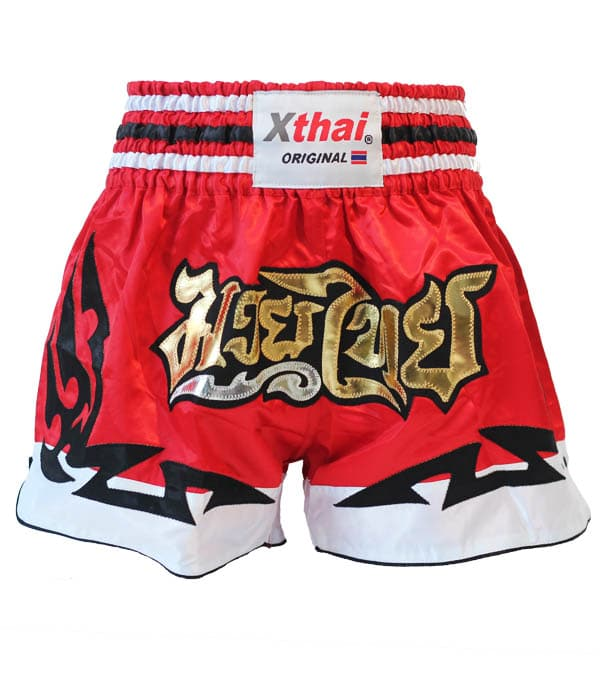 Xthai Short de Boxe Thai Tribal Rouge