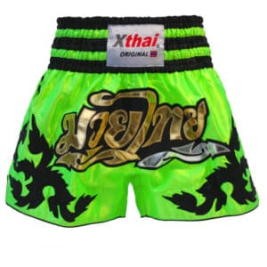 Xthai Thai Boxing Short Tribal Green