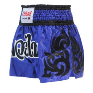 Xthai Short de Boxe Thai Tribal Bleu/Noir
