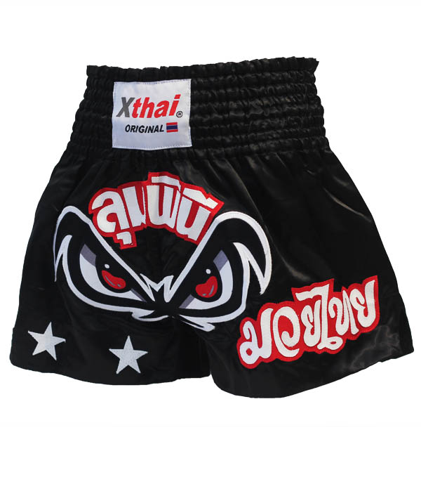 Xthai Short de Boxe Thai Tribal Noir