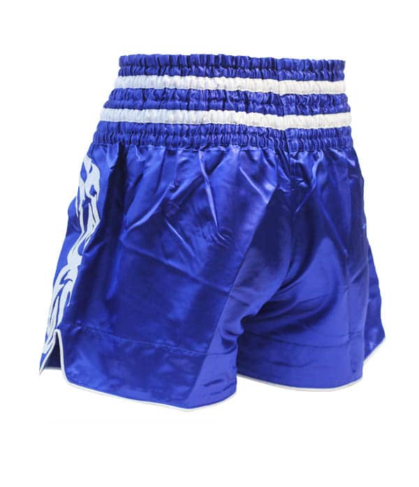 Xthai Short de Boxe Thai Tribal Bleu