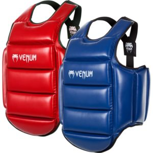 PLASTRON DE PROTECTION KARATE VENUM RÉVERSIBLE - BLEU/ROUGE