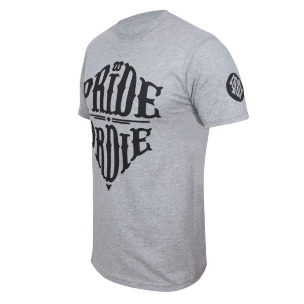 T-Shirt PRiDEorDiE RECKLESS Grey & Black