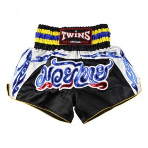 Short Muay Thaï Twins black Fancy