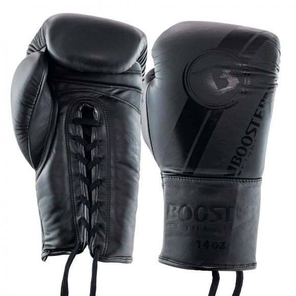 Gants de Boxe Cuir LACETS PRO BGL V3 NOIR