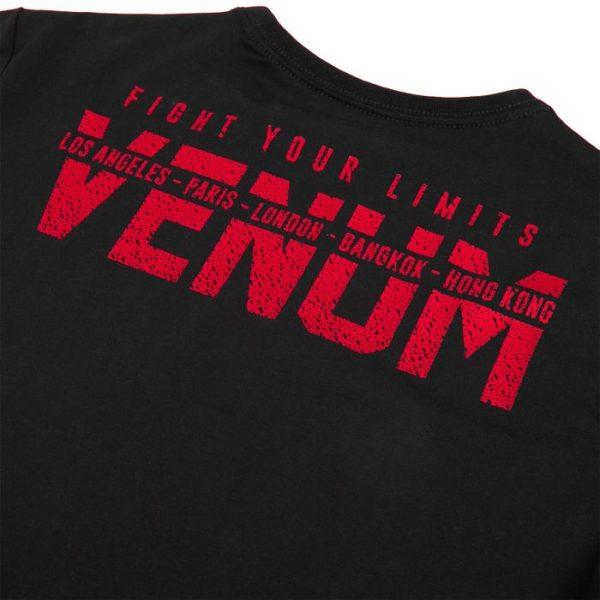 T-SHIRT VENUM SIGNATURE - MANCHES LONGUES - NOIR/ROUGE