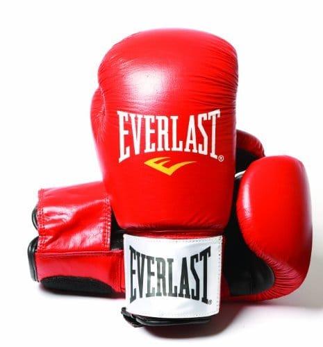 Gants de boxe Everlast cuir rouge