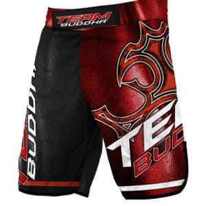 SHORT MMA BUDDHA TEAM ROUGE