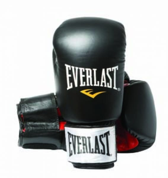 Gants de boxe Everlast cuir noir
