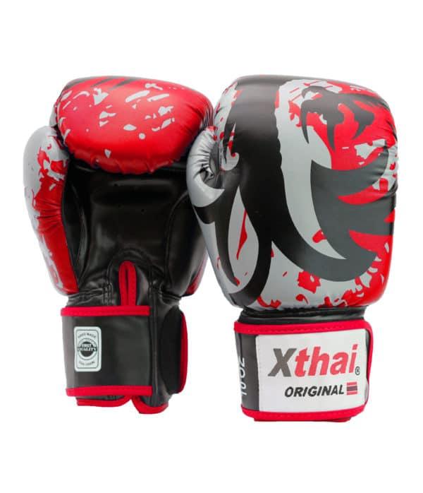 Xthai Gants de Boxe Tribal Dragon Rouge / Noir