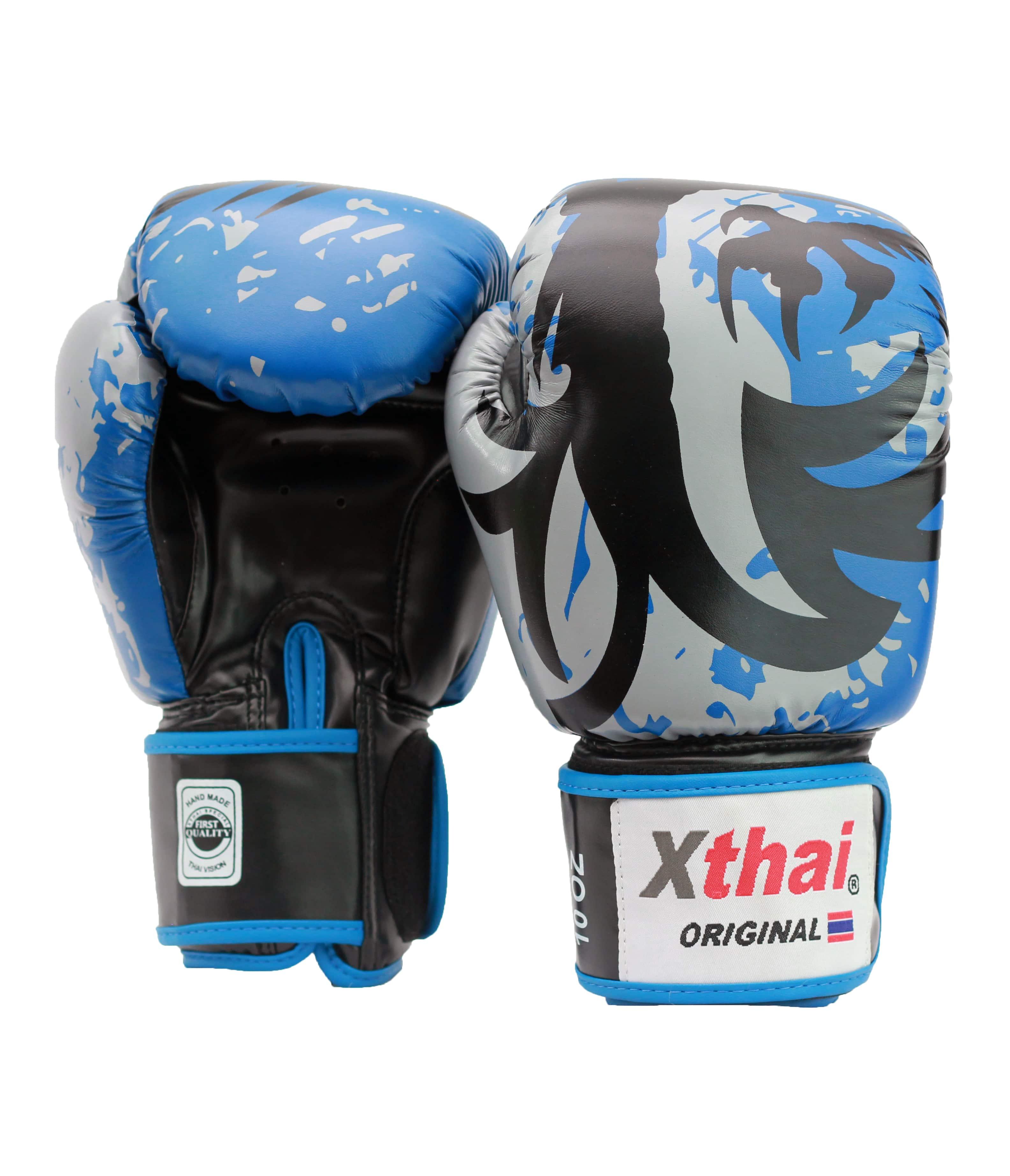 Black 14 oz Optimum Tribal Boxing Mens Gloves