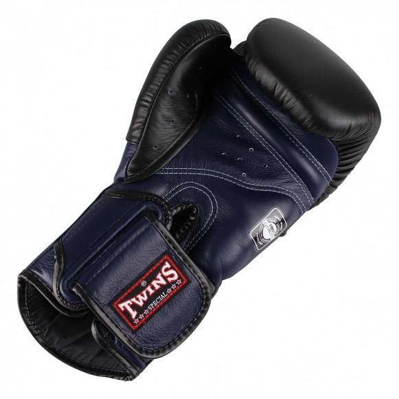 Gants de Boxe Twins DeLuxe Noir / Bleu