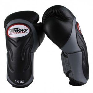 Gants de Boxe Twins DeLuxe Noir / Gris