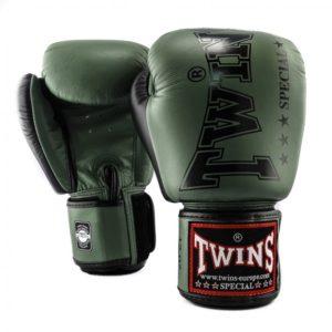Gants de Boxe Twins Special Vert Kaki