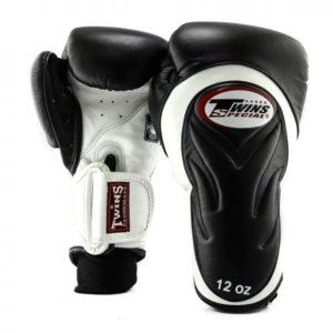 Gants de Boxe Twins DeLuxe Noir / Blanc