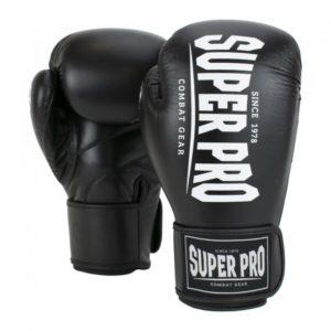 Gants de boxe SUPER PRO COMBAT noir