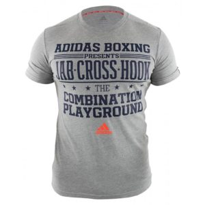 T-shirt ADIDAS BOXING GRIS CLAIR