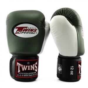 Gants de Boxe Twins Special KAKI/BLANC/NOIR