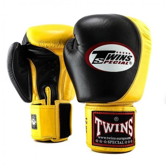 Gants de Boxe Twins Special NOIR/JAUNE