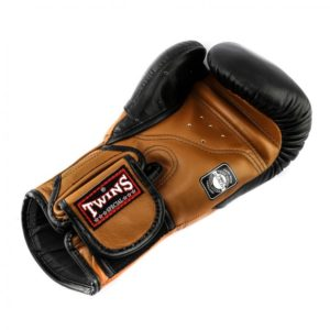 Twins DeLuxe Boxing Gloves Black and Brown