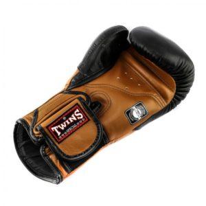 Gants de Boxe Twins DeLuxe Noir / Brun