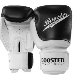 Gants de Boxe cuir BOOSTER SLUGGER NOIR/BLANC