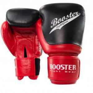 Gants de Boxe cuir BOOSTER SLUGGER NOIR/ROUGE