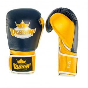 Gants de Boxe QUEEN pro bleu/jaune