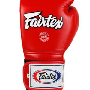 Gants de boxe Fairtex rouge-blanc