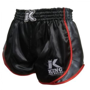 SHORT THAI KING RETRO noir/rouge