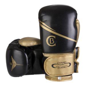 Gants de boxe CHAMPBOXING Carbone black/gold