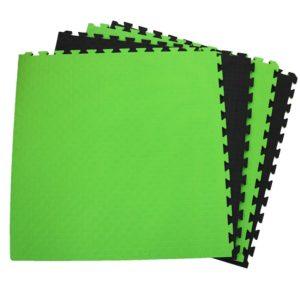 Tapis puzzle 1mx1mx2cm Vert Fluo / Noir Martial