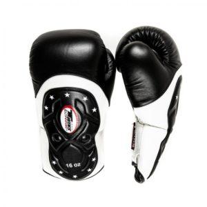 Gants de Boxe Twins DeLuxe Noir / Blanc Stars